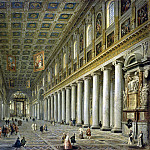 part 09 Hermitage - Panini, Giovanni Paolo - Interior of the Church of Santa Maria Maggiore in Rome