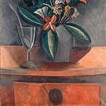 Flowers in a Grey Jug, Pablo Picasso