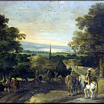 Austen, Isaac van – Landscape with a group of cavalrymen, part 09 Hermitage
