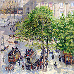 by Pissarro, Camille – Square Theatre Francais in Paris, part 09 Hermitage