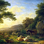 Omegank, Balthazar Paul – Landscape with a Herd, part 09 Hermitage