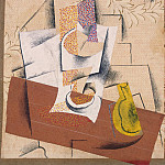 Composition with cut pear, Pablo Picasso