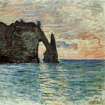 The Manneport, Cliff at Etretat, Клод Оскар Моне