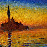 Twilight, Venice, Claude Oscar Monet