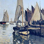 Sailing Boats at Honfleur, Claude Oscar Monet