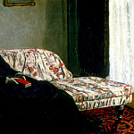 Meditation, Madame Monet Sitting on a Sofa, Claude Oscar Monet