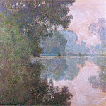 Claude Oscar Monet - Morning on the Seine, near Giverny