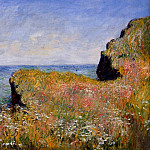 Edge of the Cliff, Pourville, Claude Oscar Monet