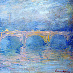 Waterloo Bridge at Sunset, Pink Effect, Claude Oscar Monet