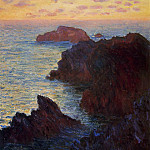 Rocky Point at Port-Goulphar, Claude Oscar Monet