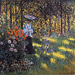 Woman with a Parasol in the Garden in Argenteuil, Клод Оскар Моне