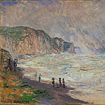 Heavy Sea at Pourville, Claude Oscar Monet