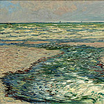 The Seacoast of Pourville, Low Tide, Claude Oscar Monet