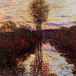 Claude Oscar Monet - The Small Arm of the Seine at Mosseaux, Evening