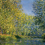 Bend in the River Epte, Claude Oscar Monet