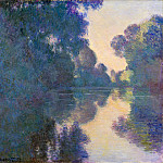 Morning on the Seine, Clear Weather, Claude Oscar Monet