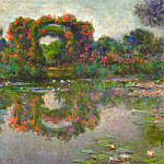 Rose Flowered Arches at Giverny, Claude Oscar Monet