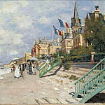 The Boardwalk on the Beach at Trouville, Клод Оскар Моне