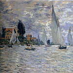 Claude Oscar Monet - The Boats Regatta at Argenteuil