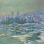 Ice Floes on Siene, Claude Oscar Monet