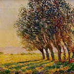 Claude Oscar Monet - Willows at Sunset