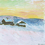 Claude Oscar Monet - Paysage of Norway, the Blue Houses