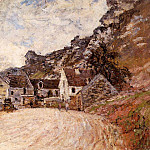 Claude Oscar Monet - The Hamlet of Chantemesie at the Foot of the Rock