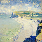 The Beach at Pourville, Claude Oscar Monet