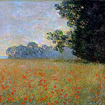 Claude Oscar Monet - Oat and Poppy Field