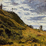 Taking a Walk on the Cliffs of Sainte-Adresse, Claude Oscar Monet