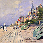 The Boardwalk at Trouville, Клод Оскар Моне