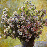 Claude Oscar Monet - Bouquet of Mallows
