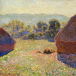 Grainstacks in the Sunlight, Midday, Claude Oscar Monet