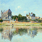View of the Church at Vernon, Claude Oscar Monet