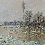Breakup of Ice, Claude Oscar Monet