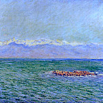 Claude Oscar Monet - The Sea and the Alps