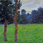 Two Trees in a Meadow, Claude Oscar Monet