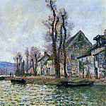 Claude Oscar Monet - The Bend of the Seine at Lavacourt, Winte