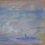 Boats on the Thames, Fog Effect, Claude Oscar Monet