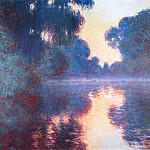 Claude Oscar Monet - Misty Morning on the Seine in Bue
