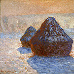Claude Oscar Monet - Grainstacks, White Frost Effect