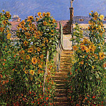 Claude Oscar Monet - The Steps at Vetheuil