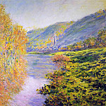 Banks of the Seine at Jeufosse, Autumn, Claude Oscar Monet