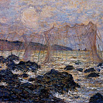Fishing Nets at Pourville, Claude Oscar Monet