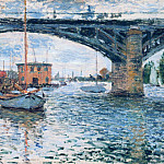 The Bridge at Argenteuil, Grey Weather, Claude Oscar Monet