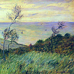 Claude Oscar Monet - Cliffs of Varengeville, Gust of Wind