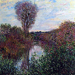 Claude Oscar Monet - The Small Arm of the Seine at Mosseaux