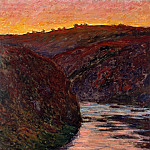 Valley of the Creuse, Sunset, Клод Оскар Моне