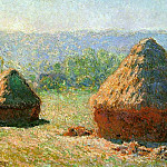Claude Oscar Monet - Grainstacks at the End of Summer, Morning Effect