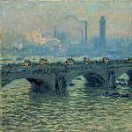 Waterloo Bridge, Grey Weather, Claude Oscar Monet